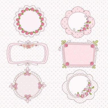 Doodle vintage frames