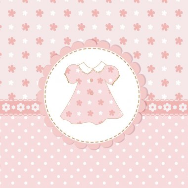 Baby girl shower with dress