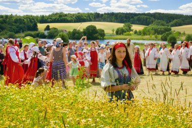 Haying festival in Russia
