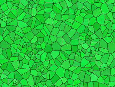 Broken tiles green pattern
