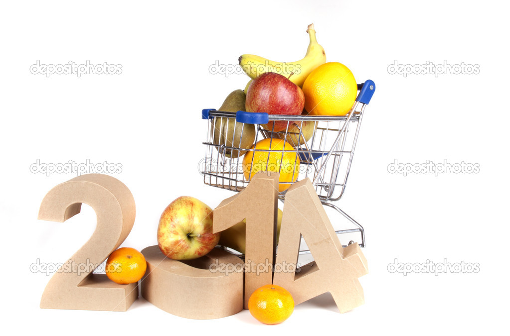 healthy new years wishes stock photo