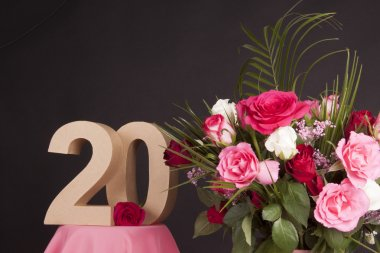 Happy birthday with roses