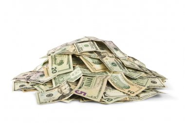 Pile of cash stock vector