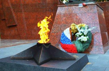 Eternal flame in Zvenigorod, Russia