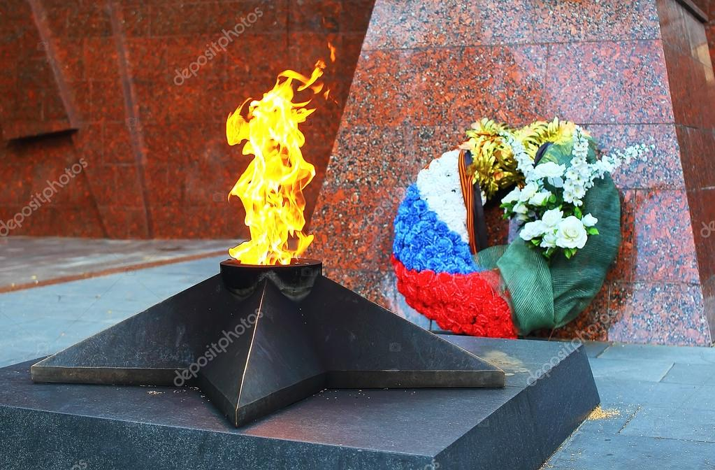 Eternal flame in Zvenigorod, Russia