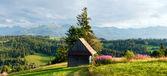 Fotografie letní horské země panorama