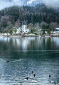 Photo Alpine winter lake view