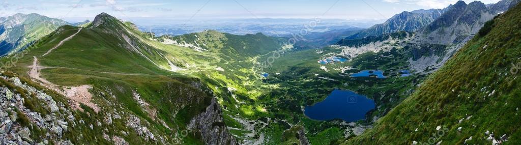 Summer Tatra Mountain ponarama, Poland.
