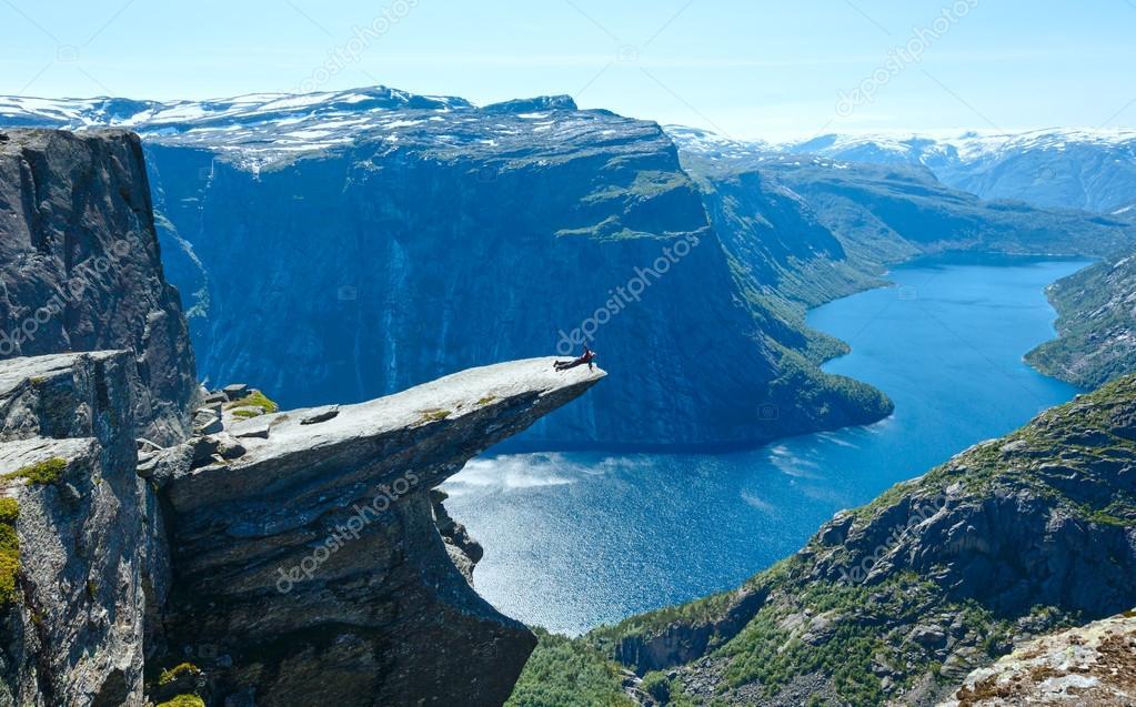 Trolltunga summer view (Norway).