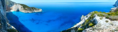 Navagio beach panorama (Zakynthos, Greece)
