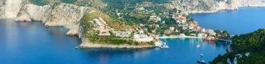 Summer view of Assos peninsula (Greece,  Kefalonia). Panorama.