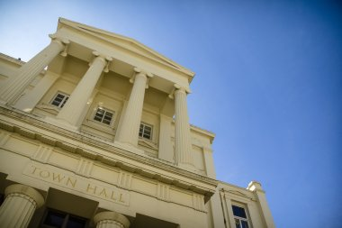Town hall and sky