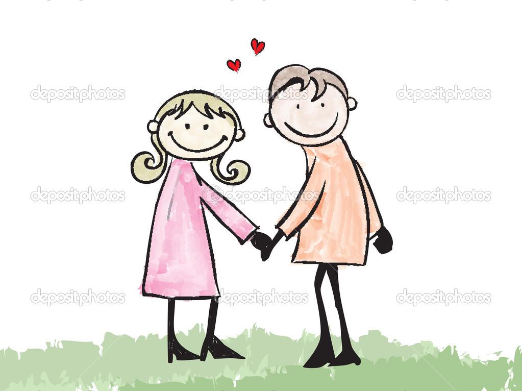 không - Tập Truyện Ngắn: Có Một Chuyện Tình Như Thế Không? Depositphotos_44786709-stock-illustration-happy-lover-dating-doodle-cartoon