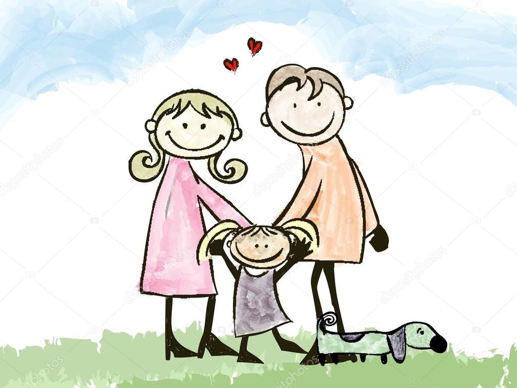 Надписью, папа и дочка открытка