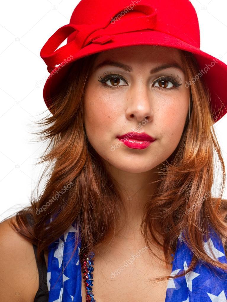 mujer con sombrero y bufanda — Foto de stock © ERP Seattle  47095025 49c7402001c