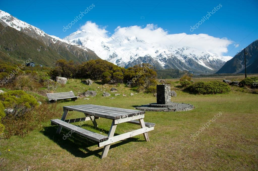 Beautiful view during walk to glacier in Mount Cook National Park, South Island, New Zealand