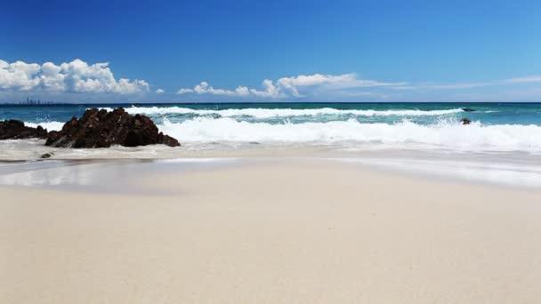 Ocean with waves at the Gold Coast beach Australia