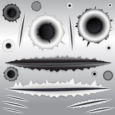 Bullet and Scratches Vectors
