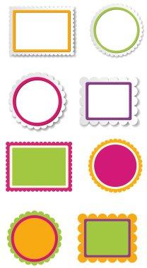 Retro Kids Photo Frames Vectors