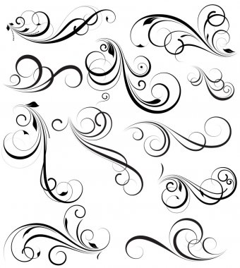 Creative Abstract Conceptual Design Art of Swirly Vectors Design Elements stock vector