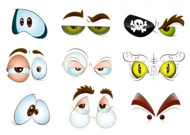 Creative Abstract Conceptual Design Art of Vector Eyes stock vector