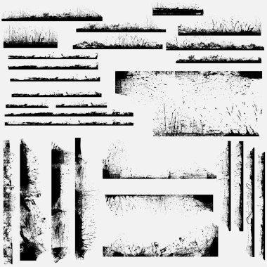 Creative Abstract Conceptual Design Art of Grunge Frames Border Edges Vectors clip art vector