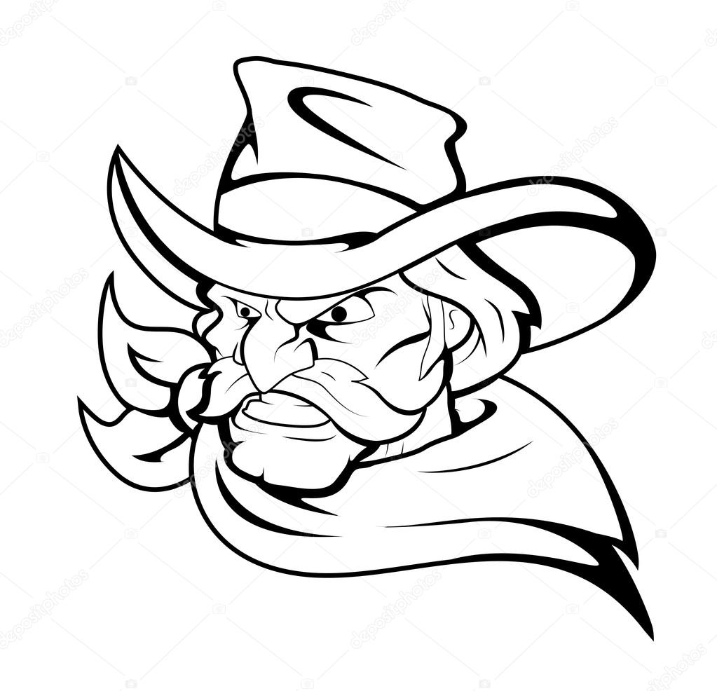 black cowboy hat cartoon