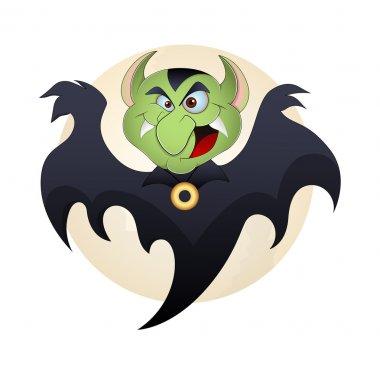 Vampire Vector Funny Cartoon Illustration