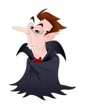 Funny Dracula Vampire Vector Illustration