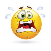Smajlíci smajlík čelí vektor - šokující výraz