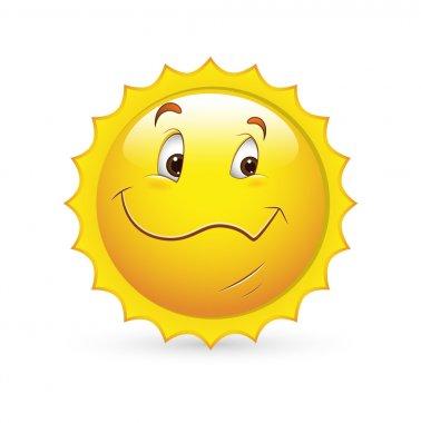 Smiley Emoticons Face Vector - Happy Sunny Look