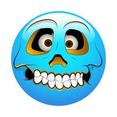 Smiley Emoticons Face Vector - Hollow