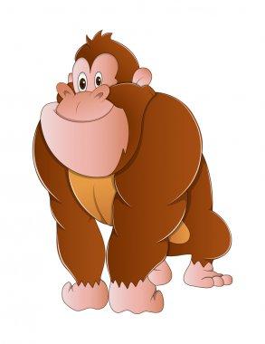 Gorilla Monkey Vector Illustration