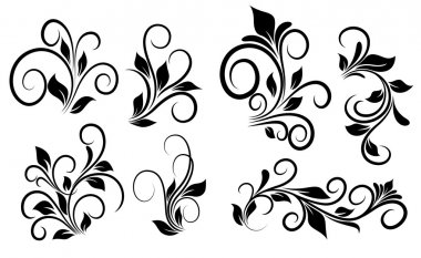 Flourish Swirls Vector Elements