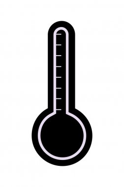 Thermometer Vector Silhouette