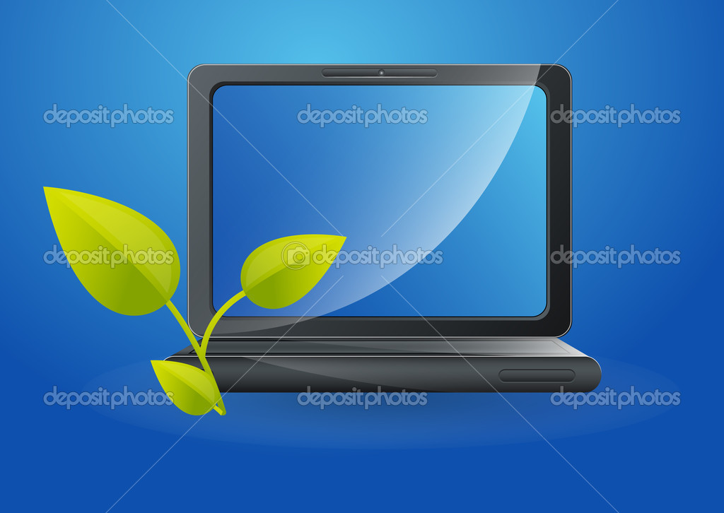 Organic and Energy Saving in Computers - Vector Concept