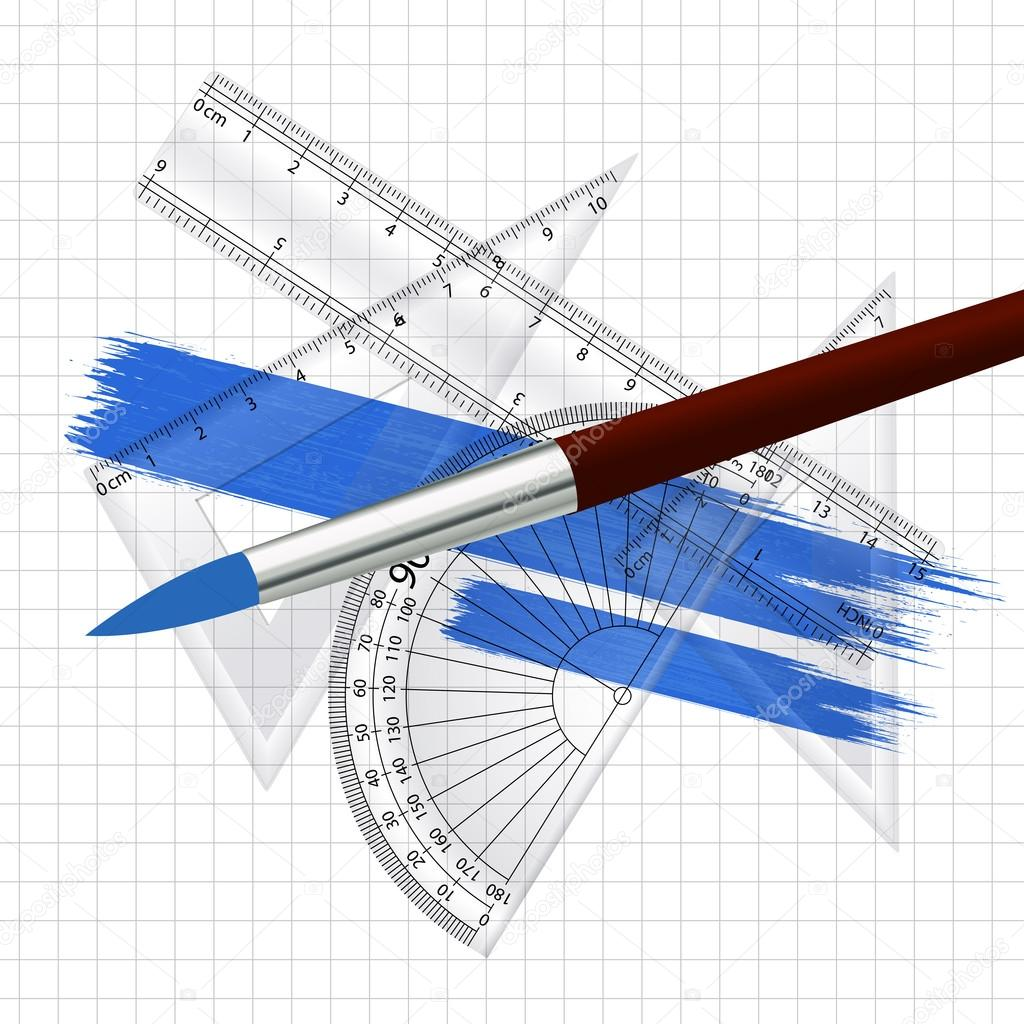 Maths and drawing instruments vector concept stock vector creative abstract conceptual design art of maths and drawing instruments vector concept vector by baavli ccuart Image collections