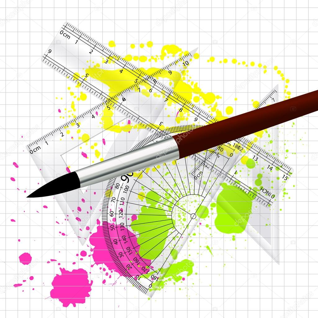 Drawing and maths measurement units vector illustration stock creative abstract conceptual art design of drawing and maths measurement units vector illustration vector by baavli ccuart Image collections