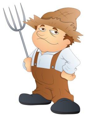 Farmer - Cartoon Character - Vector Illustration