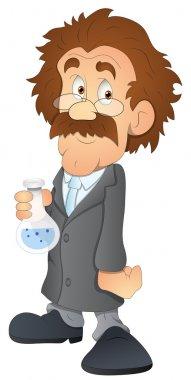 Scientist - Cartoon Character - Vector Illustration
