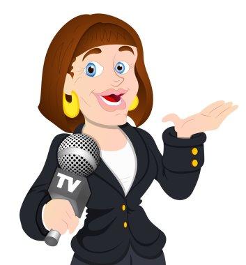 TV Reporter Female