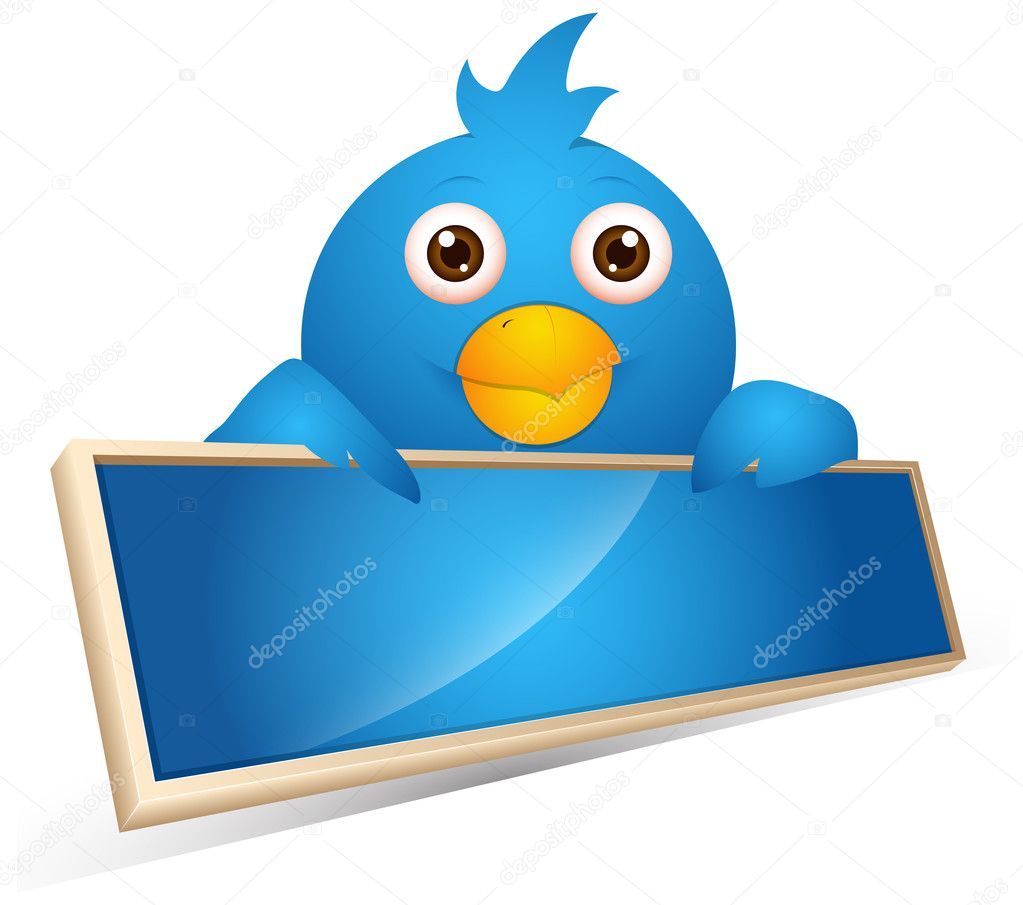 Twitter Bird Business Banner Vector Illustration