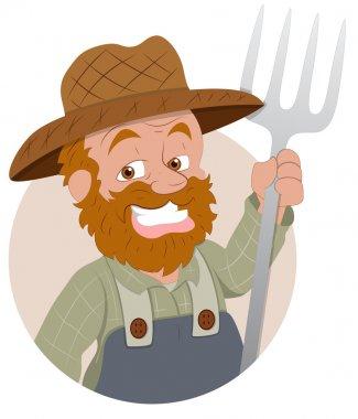 Farmer - Vector Character Illustration