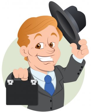 Salesman Vector Illustration