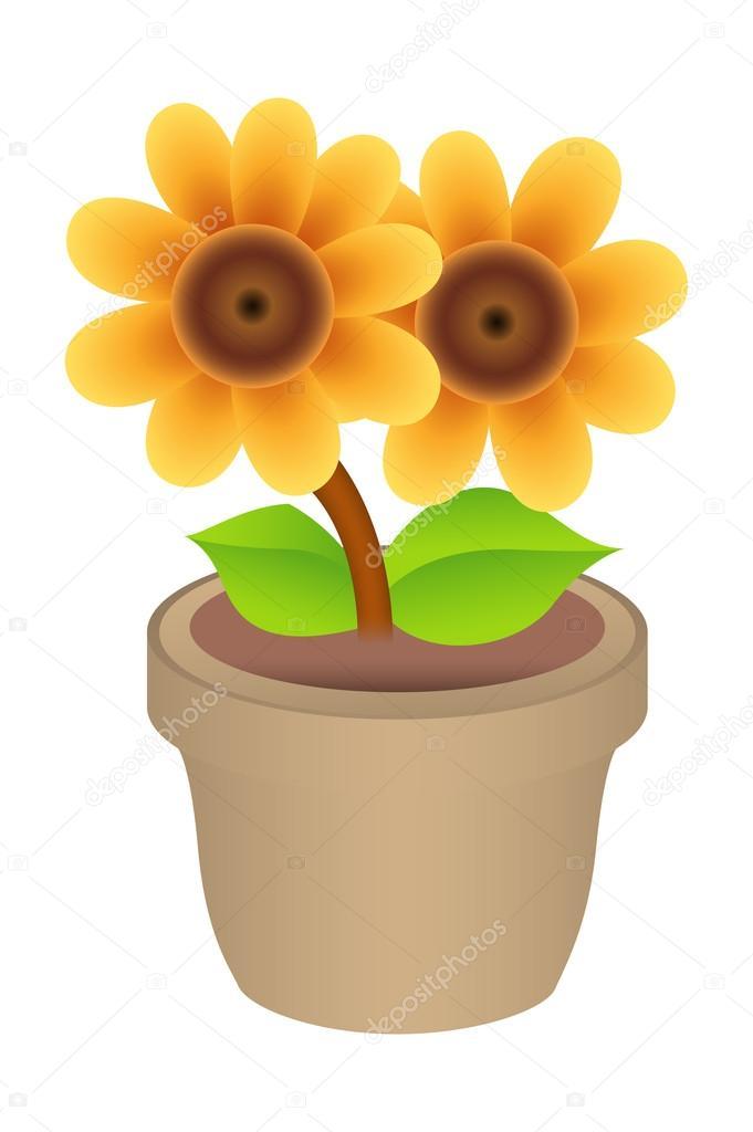 Flower Pot Vector Illustration