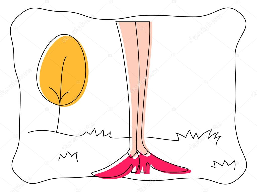 Woman Leg Vector