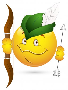 Smiley Vector Illustration - Robin Hood Face
