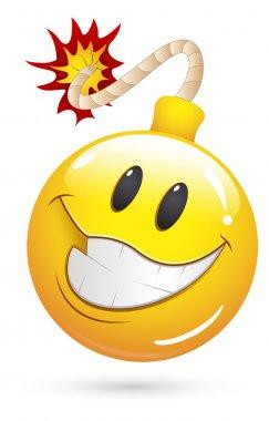 Smiley Vector Illustration - Offer Blast Bomb Face