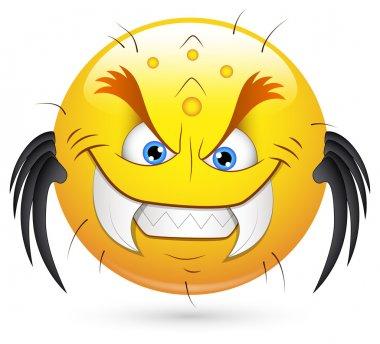 Smiley Vector Illustration - Monster