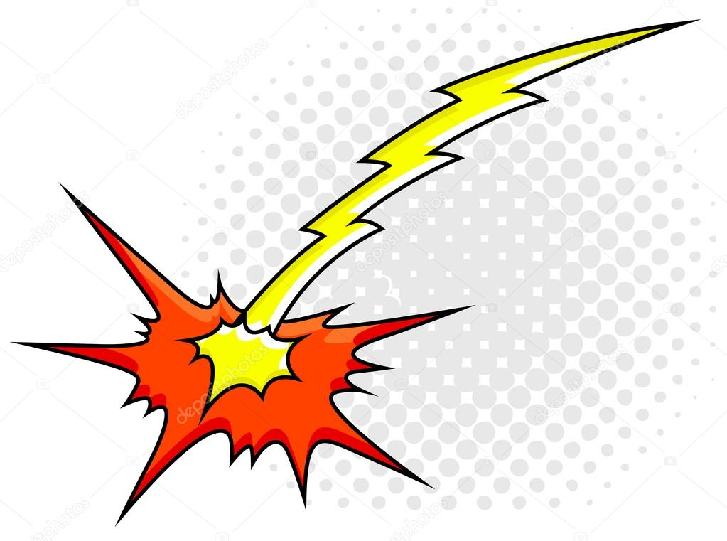 Comic Explosion Sparks Light Vector